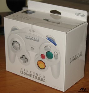 white gamecube controller box