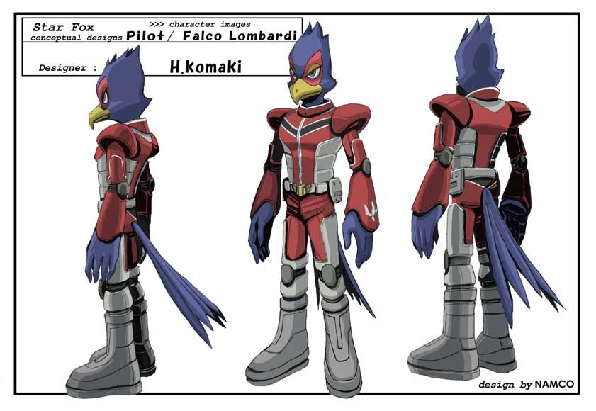 Alternate outfits I would like to see in Super Smash Bros Ultimate  Star-fox-concept-art-falco