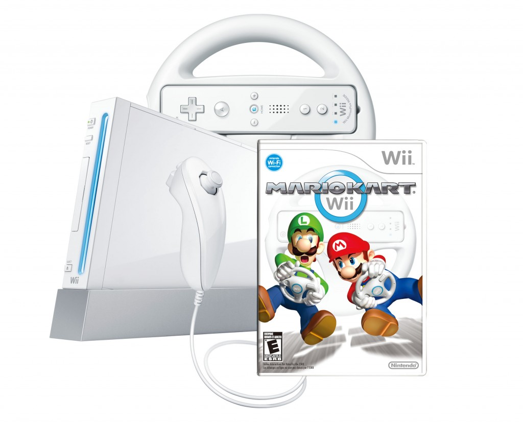 New wii nintendo game console mario kart 2 play bundle ebay - Wii console mario kart bundle ...