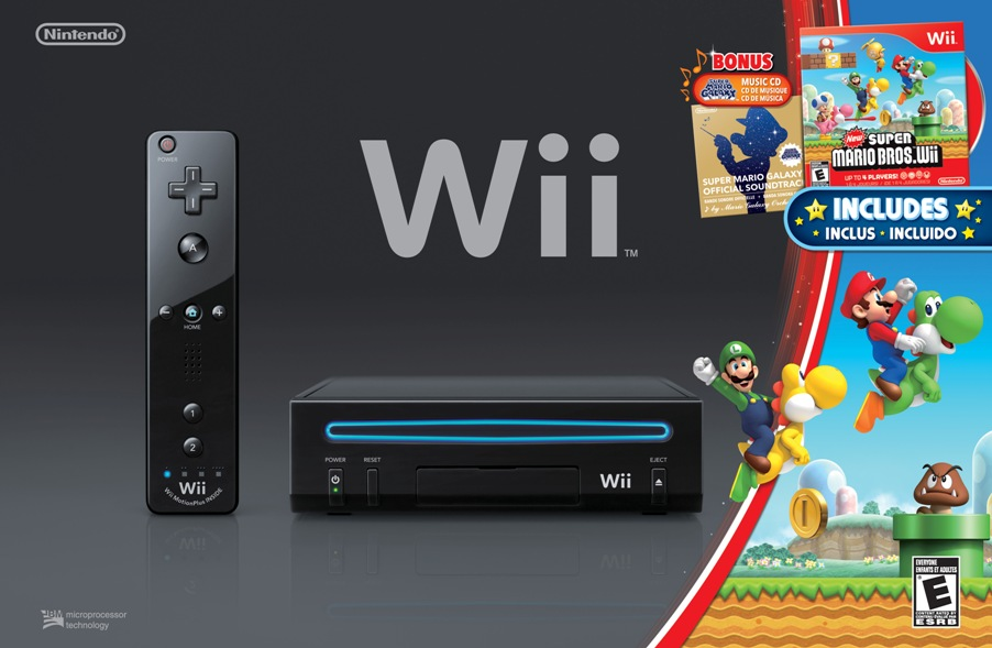 Nintendo wii black wii holiday bundle with new super - How much is a super nintendo console worth ...