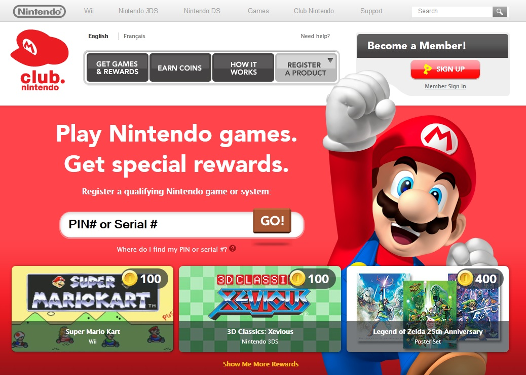 Club Nintendo Website Lets You Pay For Games With Coins | My Nintendo News
