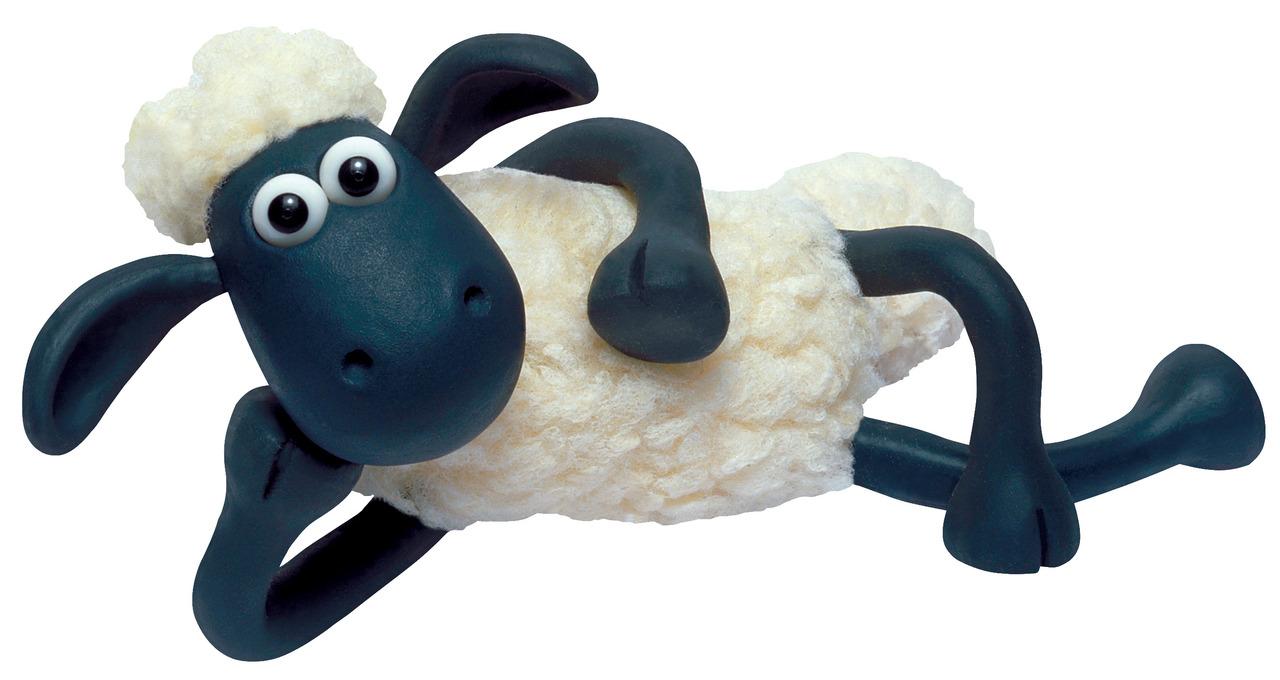 年賀状 年賀状ひつじ2 : Shaun Sheep