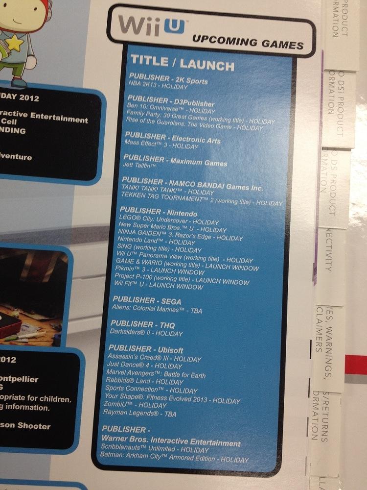 Wii U Games Line Up : Gamestop reveals wii u launch line up my nintendo news