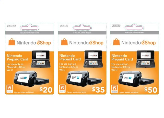 Wii U Branded Nintendo eShop Cards Spotted – My Nintendo News