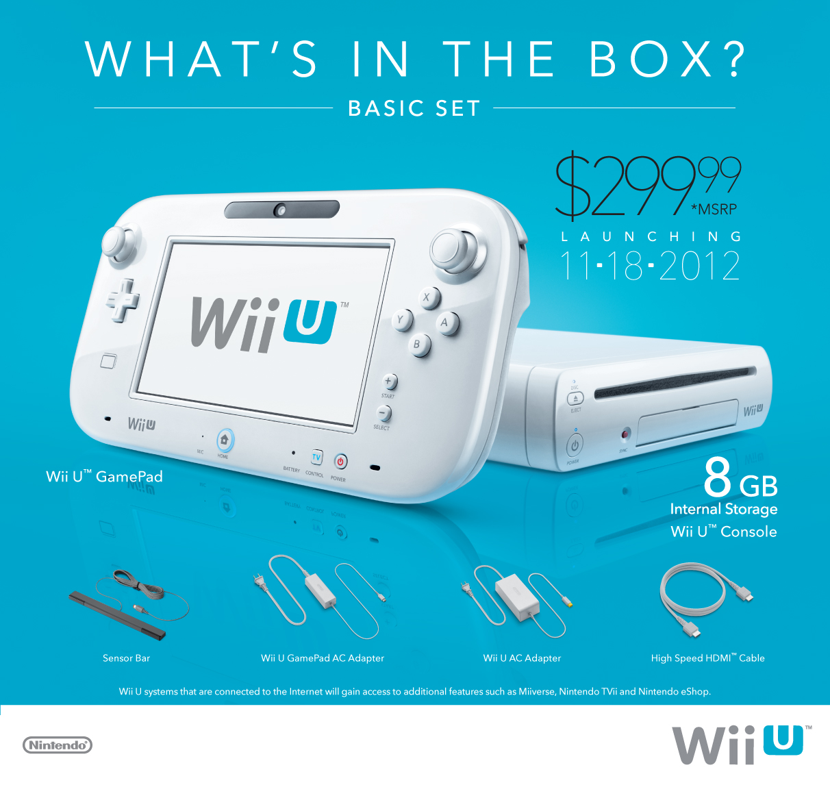 basic wii u console now available to pre order at best buy. Black Bedroom Furniture Sets. Home Design Ideas