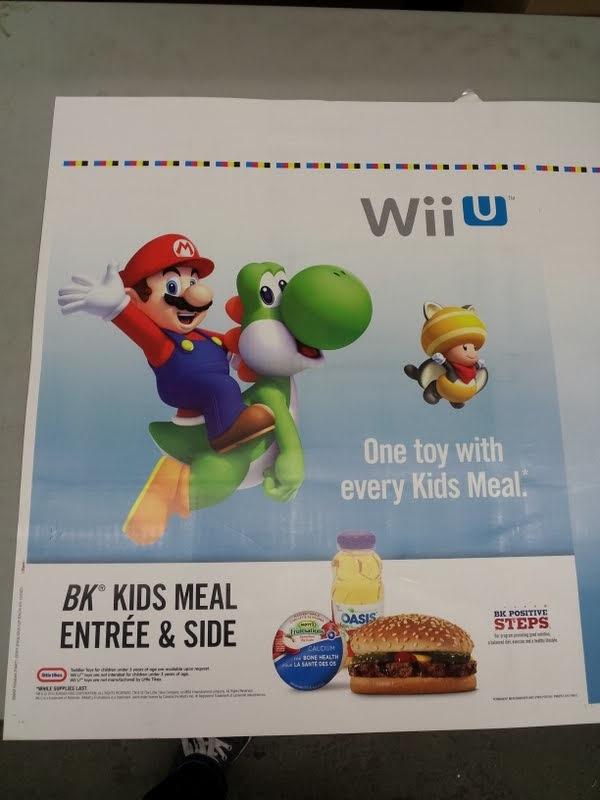 wii u burger king poster Wii U leksaker att börja säljas på Burger King?