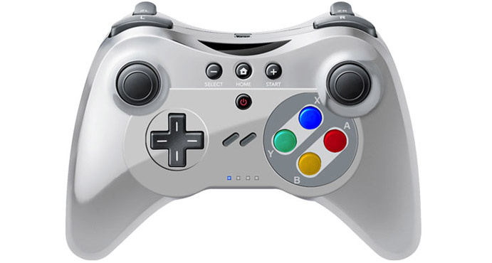 snes themed wii u pro controller coming my nintendo news. Black Bedroom Furniture Sets. Home Design Ideas