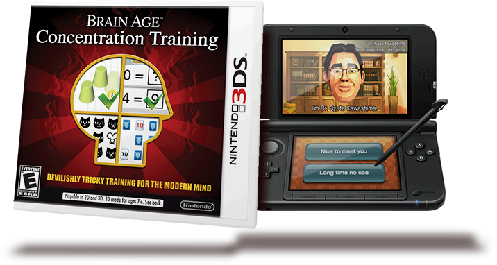 Brain age concentration training arrives in the nintendo eshop on