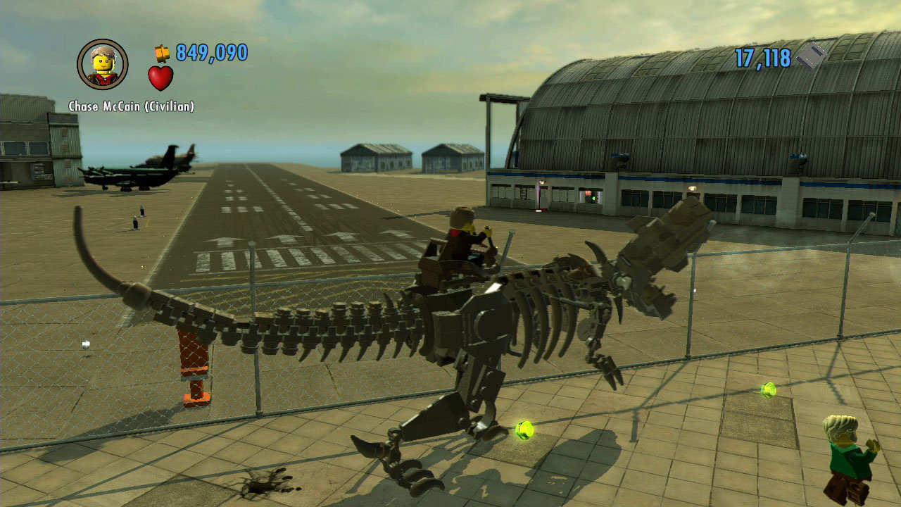 You can ride a dinosaur in lego city undercover for wii u