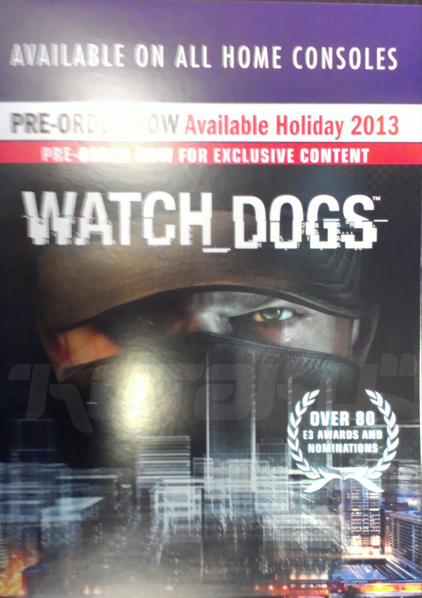 Watch Poster Leaked Poster Says Watch Dogs