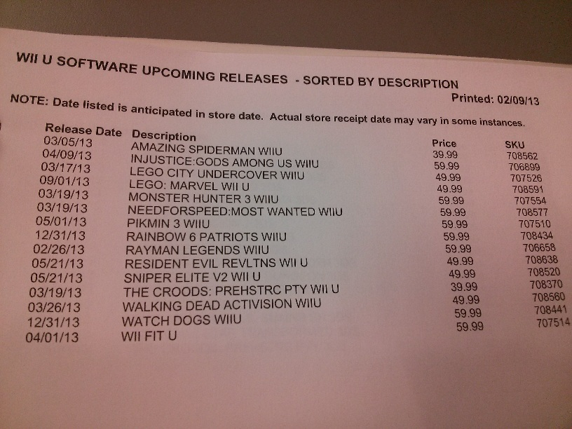 Wii U Games List : Watch dogs and rainbow patriots show up on wii u eb