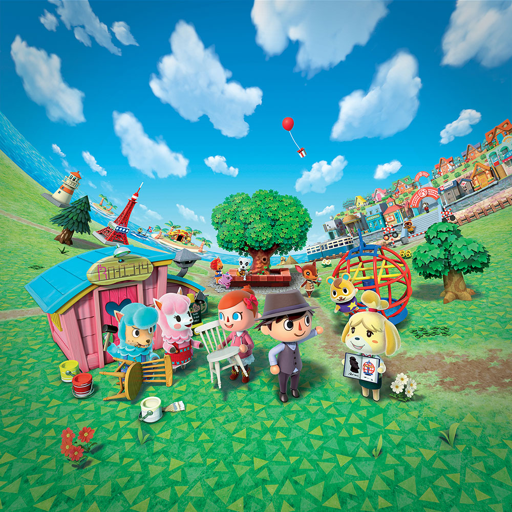 nintendo world transforming into a town from animal crossing: new