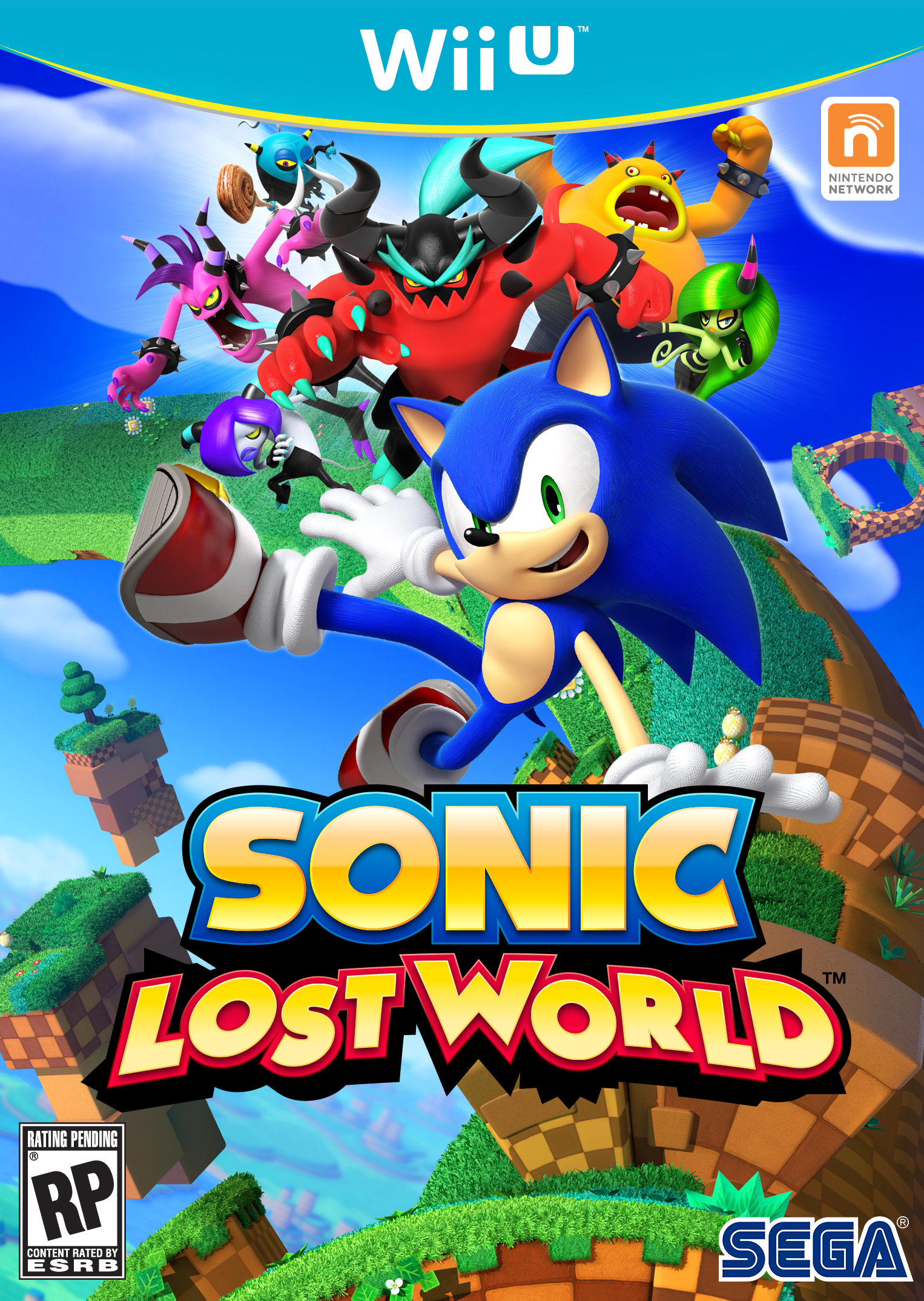 Sonic Lost World Official Box Art Wii U Games And Software Wii