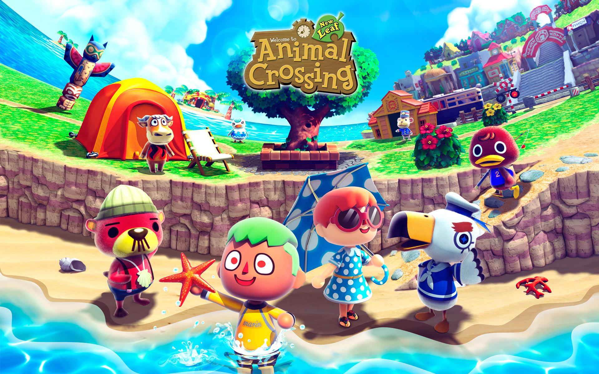 Famous animal crossing new leaf wallpaper for Animal crossing new leaf arredamento
