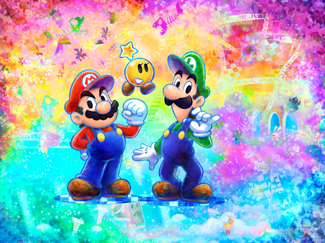 mario and luigi dream team bros background