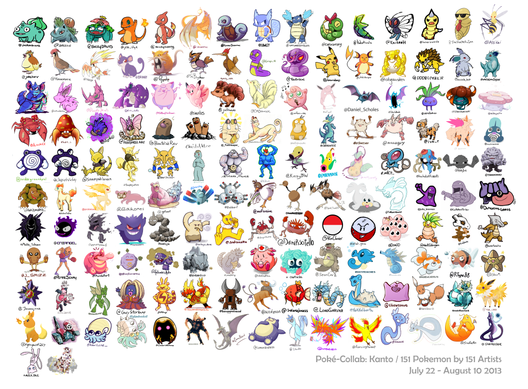 Heres 151 pokemon drawn by 151 different artists my nintendo news pokemoncollab altavistaventures Images
