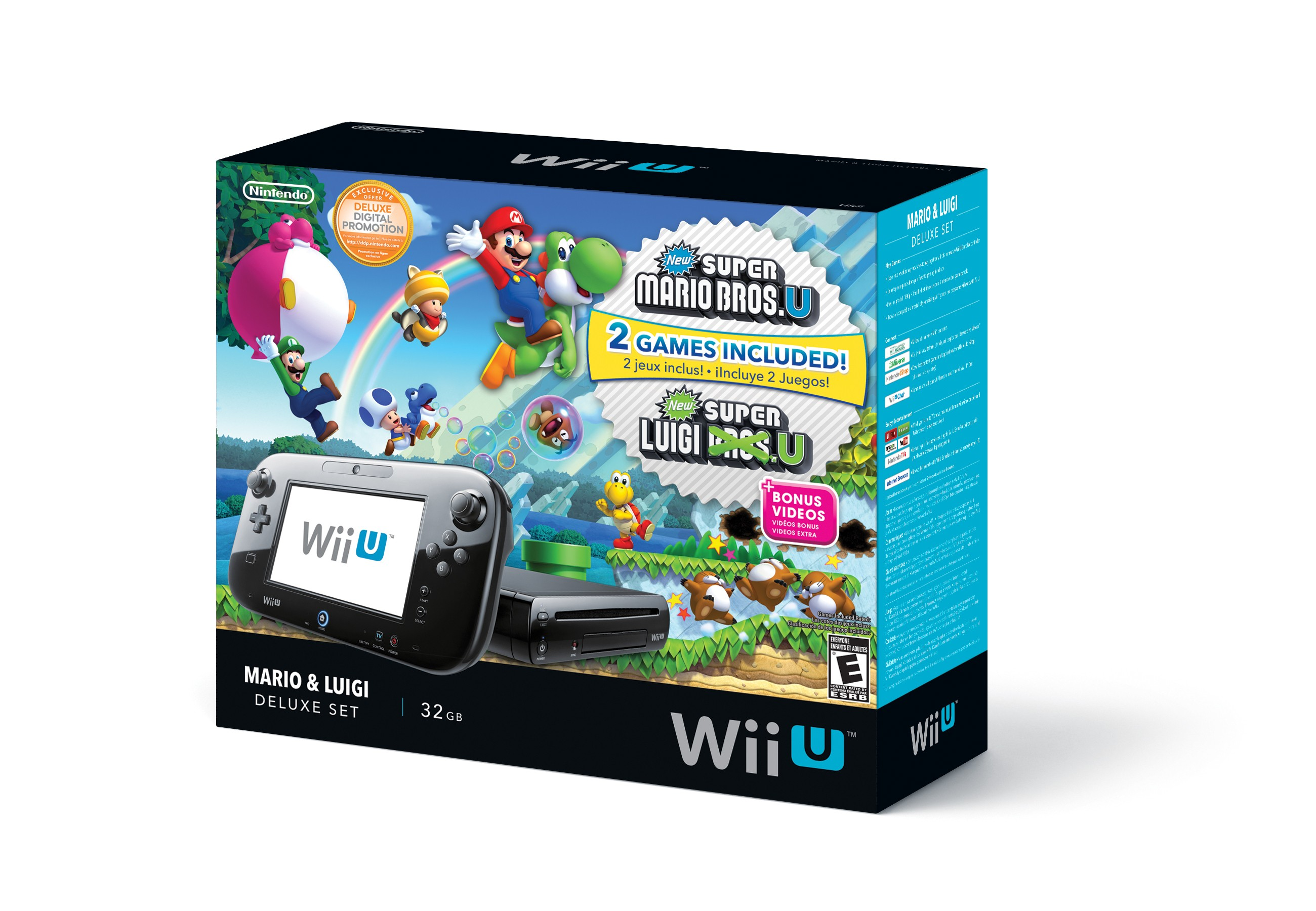 wii u deluxe set with mario bros u and luigi u available. Black Bedroom Furniture Sets. Home Design Ideas