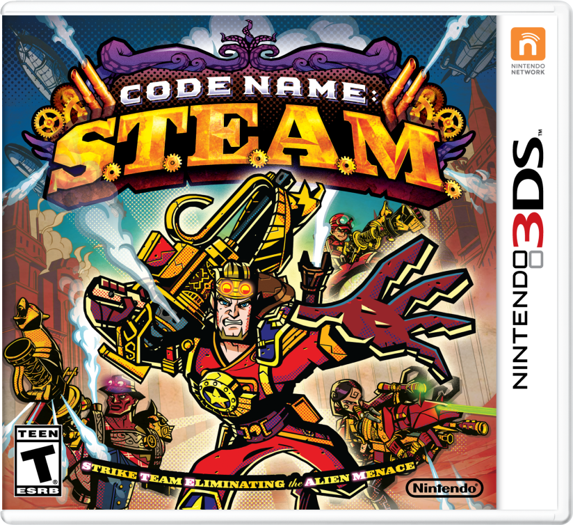 Here's the Code Name STEAM Box Art For Nintendo 3DS