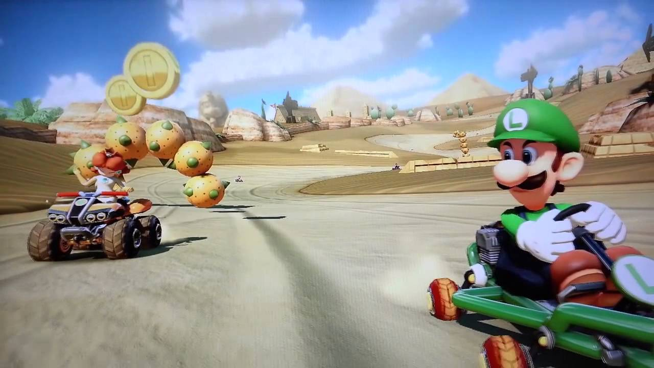 Luigi S Death Stare Appears In Official Mario Kart 8