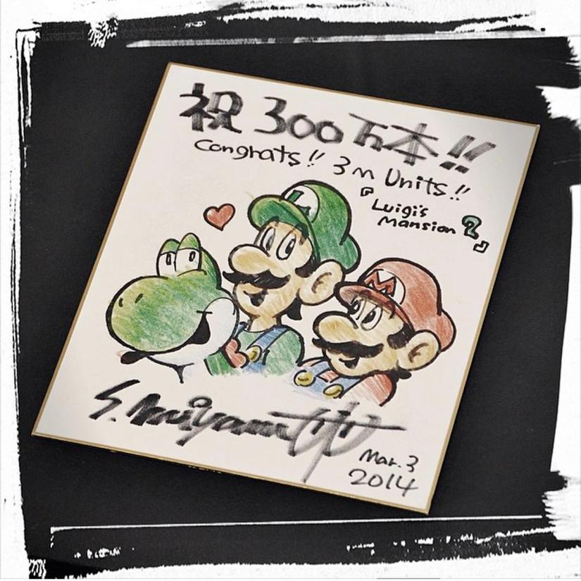 Next Level Games Showcase Art From Miyamoto Celebrating Luigi's Mansion 2 Selling 3Million