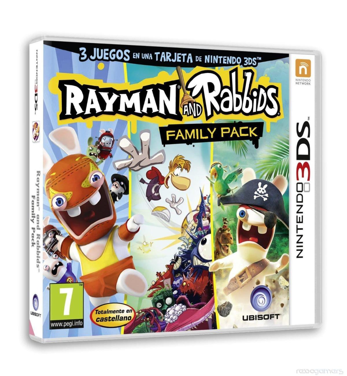 Rayman 3DS Collection Is Actually Rayman Origins, Rabbids Rumble And Rabbids Travel in Time3D