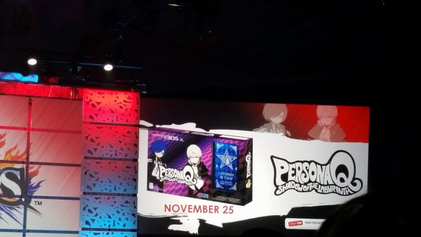 Persona Q: Shadow Of The Labyrinth 3DS XL Revealed For North America