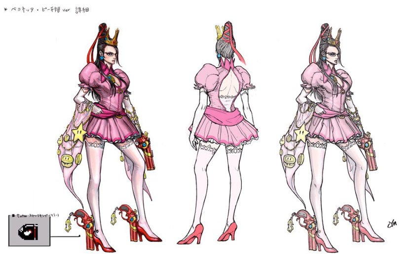 Here's A Look At The Nintendo Costume Concept Art For Bayonetta