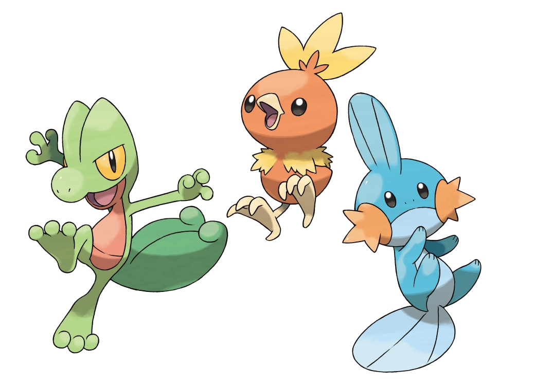 pokemon_ruby_sapphire_starters