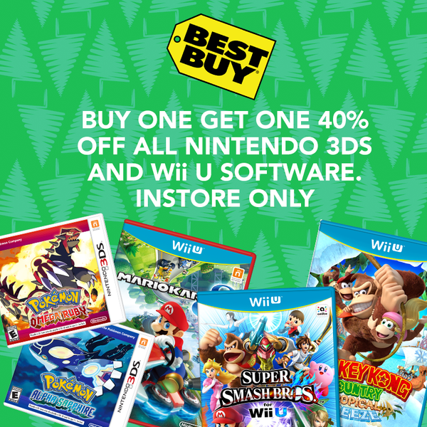 All Wii U Games : Buy one get off all nintendo ds and wii u games