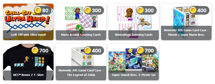 Lovely New US Club Nintendo Physical Rewards Up