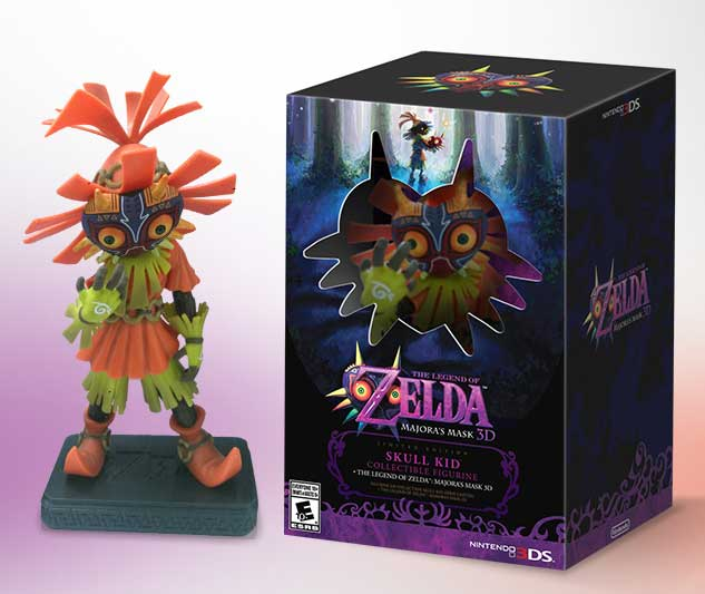 Here's A Closer Look At The Skull Kid Figurine From Majora's Mask 3D US Bundle