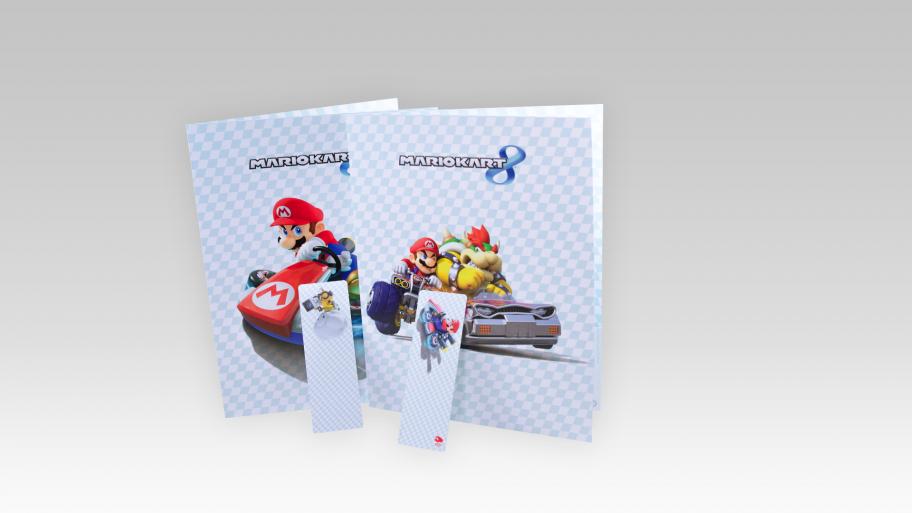 Mario Kart 8 Folder & Bookmark Set On European ClubNintendo
