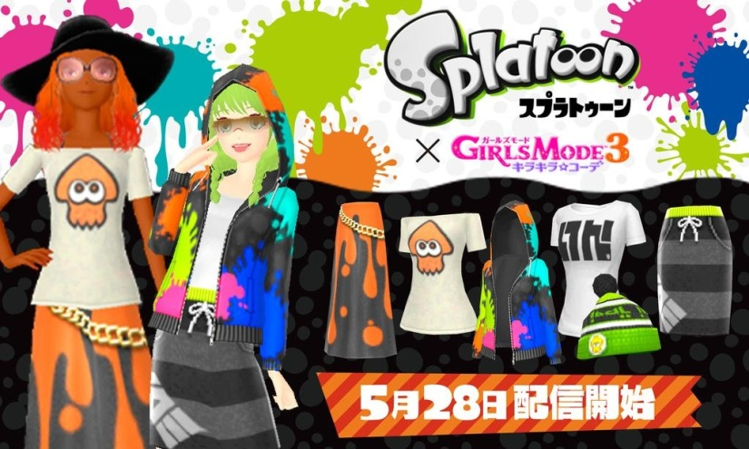 Girls Mode 3 Will Now Have Splatoon Clothing InJapan