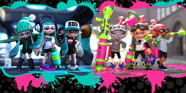 splatoon_inkling_boys_girls_blue_pink_wallpaper