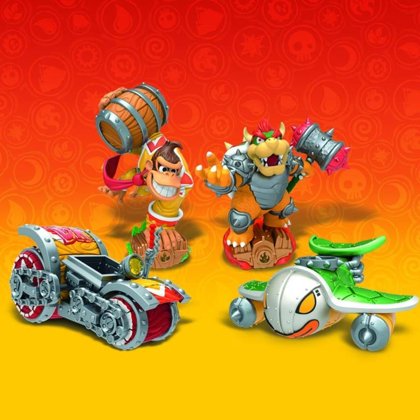 Bowser & Donkey Kong Skylanders SuperChargers Amiibo Are Only Obtainable Via Starter Packs