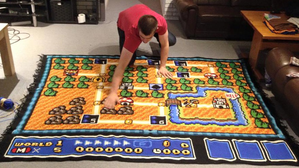A Man Has Spent Six Years Crocheting Super Mario Bros 3 Map My