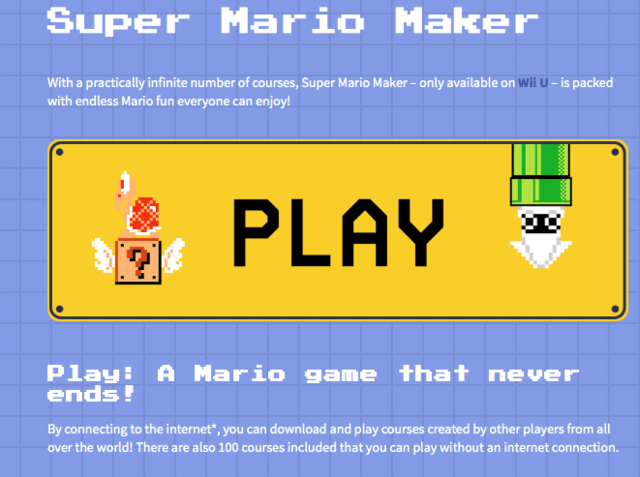 Nintendo Uk Has Removed Blurb About Super Mario Maker S