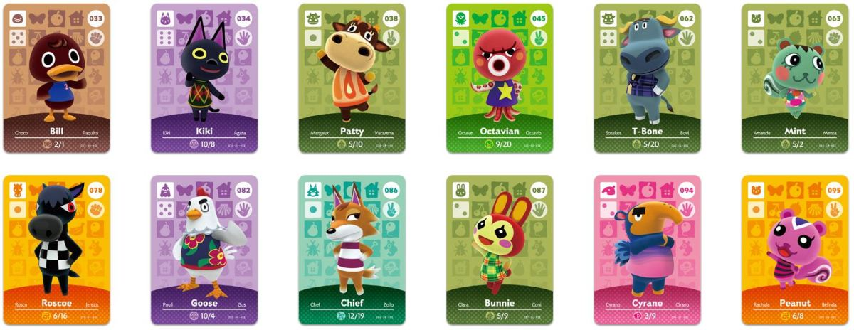 Animal Crossing Happy Home Designer Variant Amiibo Cards