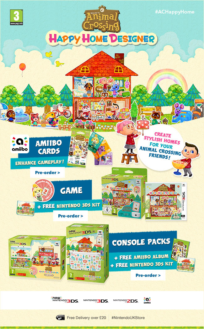 Animal Crossing Happy Home Designer Bundles Up On Nintendo UK Store  My Nintendo News