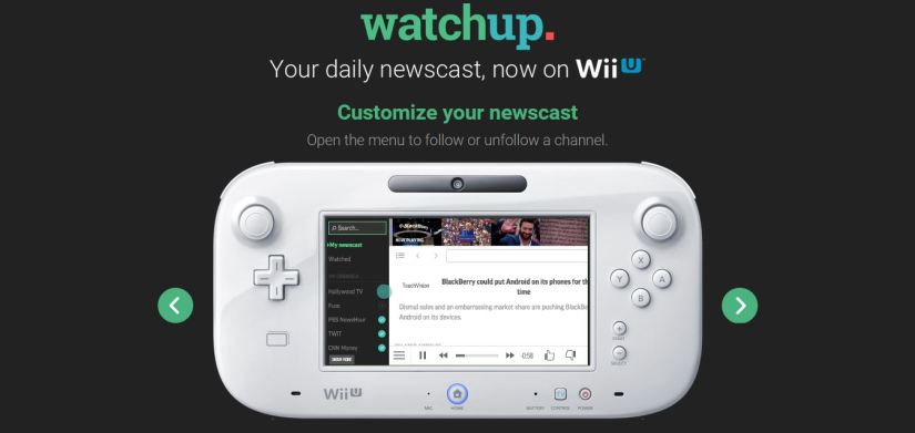 Watchup News App Pops Up On The Wii U eShop