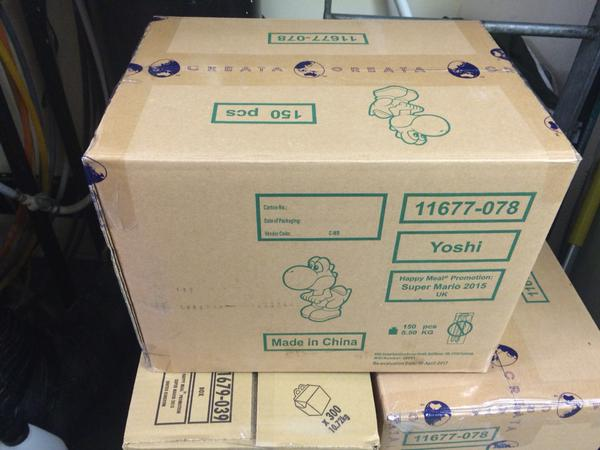 UK: Super Mario Happy Meal Toys Apparently Start August 12th Shipments Have Arrived