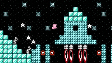 Falling stars? Mario catches on fast.