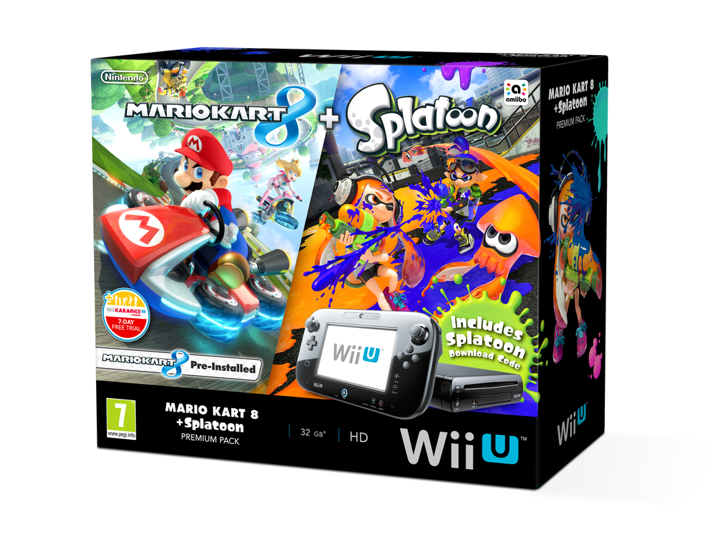 europe nintendo announces mario kart 8 and splatoon wii u. Black Bedroom Furniture Sets. Home Design Ideas