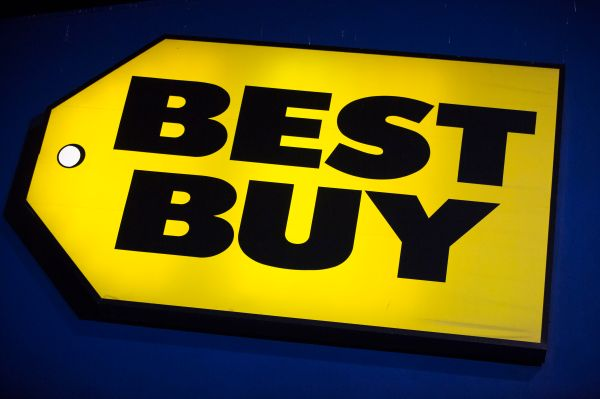 A Best Buy logo is seen during Thanksgiving Day in San Francisco, California, in this November 22, 2012, file photo. Best Buy Co Inc showed the first concrete signs of a turnaround in its U.S. stores, with flat same-store sales during the key holiday season, surprising analysts who had expected a decline, January 11, 2013.  REUTERS/Stephen Lam/Files (UNITED STATES - Tags: BUSINESS LOGO)