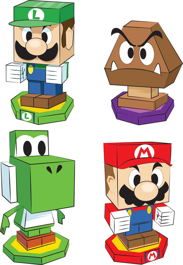 mario_and_luigi_paper_jam_paper_craft_characters