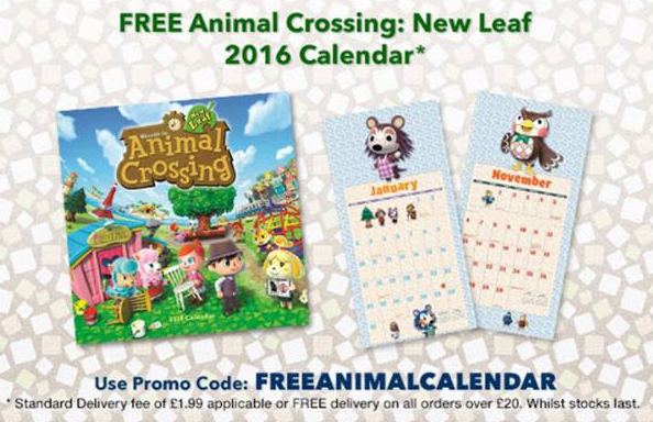 animal crossing calendar