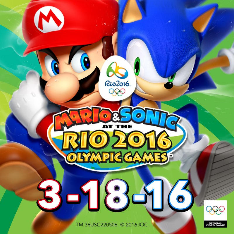 US: Mario & Sonic At The Rio 2016 Olympic Games For 3DS Out March 18th