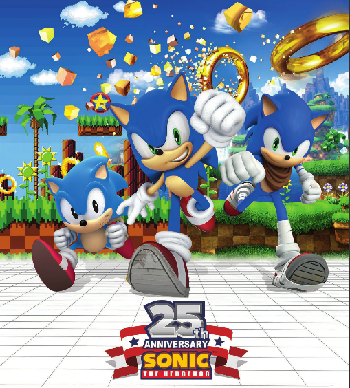 SEGA revealed a new promotional poster for Sonic's 25th Anniversary  Sonic_25th-anniversary_advert2