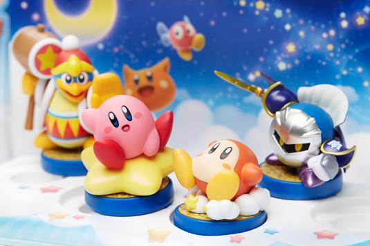 The gorgeous new Kirby amiibo series.