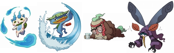 You'll receive two of these four Yo-Kai in the main storyline.